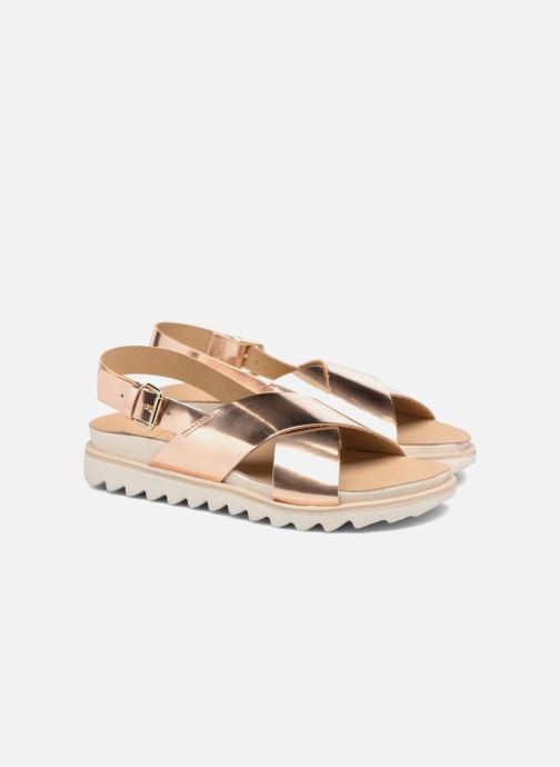 Sandalias Made by SARENZA Pastel Belle #8 Oro y bronce vistra trasera
