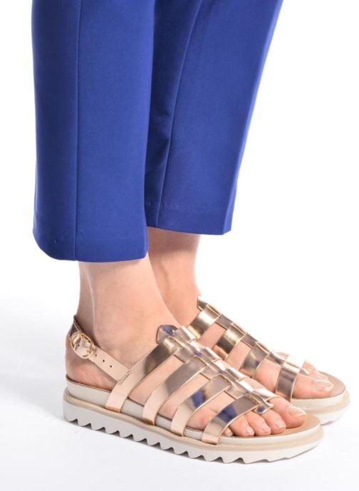 Sandales et nu-pieds Made by SARENZA Pastel Belle #13 Argent vue bas / vue portée sac