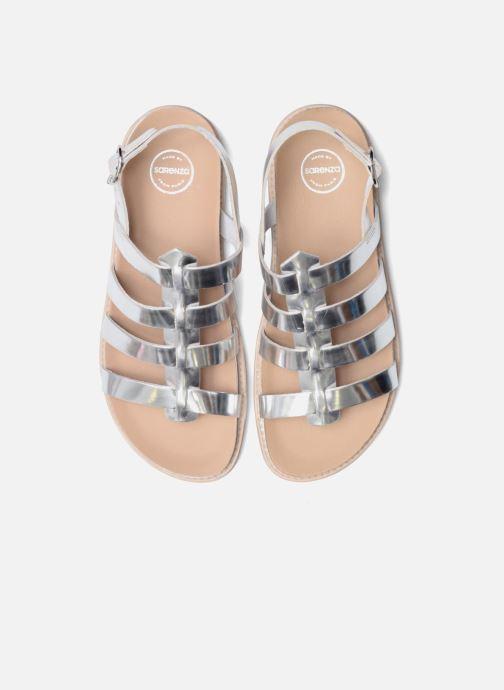 Sandalias Made by SARENZA Pastel Belle #13 Plateado vista del modelo