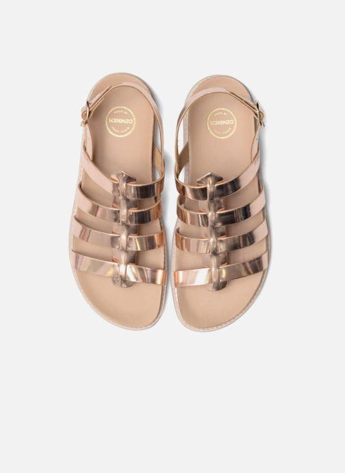 Sandalias Made by SARENZA Pastel Belle #13 Oro y bronce vista del modelo