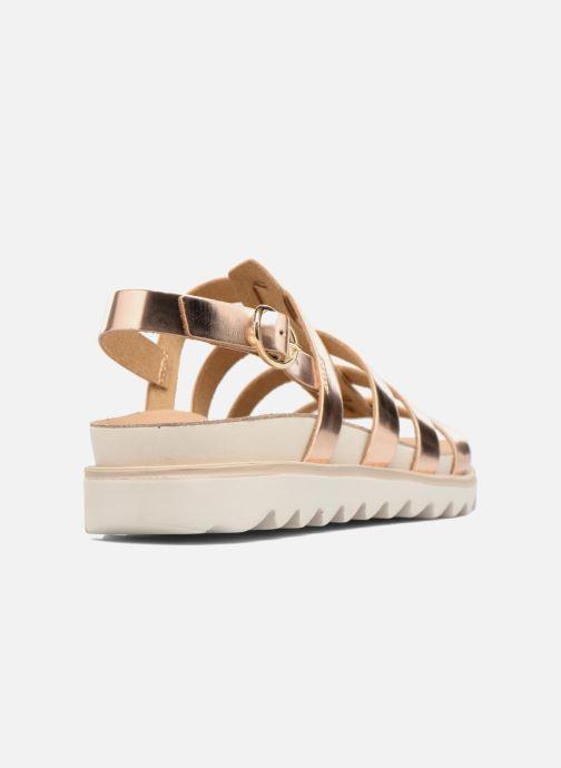 Sandalias Made by SARENZA Pastel Belle #13 Oro y bronce vista de frente