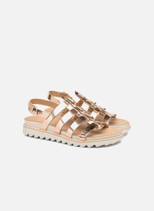 Sandales et nu-pieds Made by SARENZA Pastel Belle #13 Or et bronze vue derrière