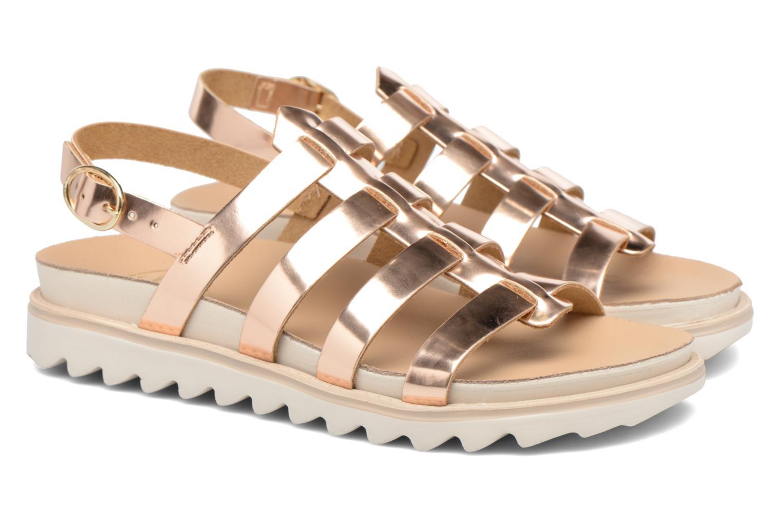 Sandalen Made by SARENZA Pastel Belle #13 Goud en brons achterkant