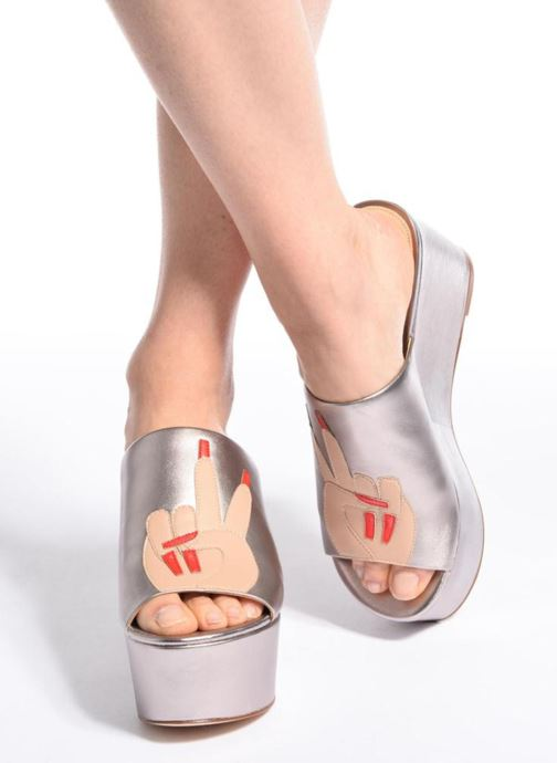 Mules & clogs Katy Perry The Rebecca Silver view from underneath / model view
