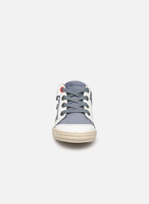 Baskets Kickers Jinjang Blanc vue portées chaussures