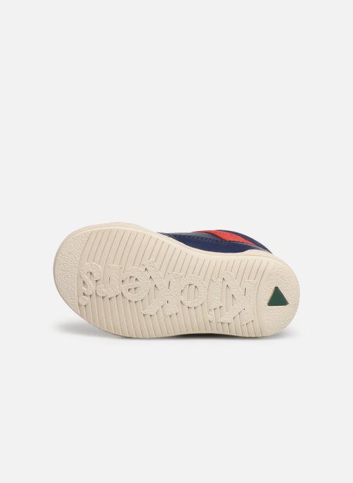 Baskets Kickers Jinjang Bleu vue haut