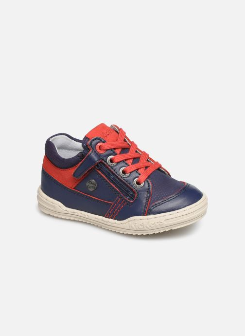 Sneakers Kickers Jinjang Blauw detail