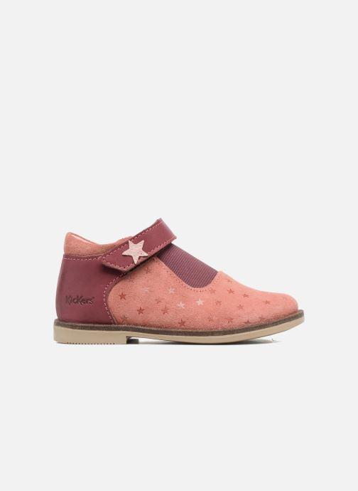 Chaussures à scratch Kickers Moly Rose vue derrière
