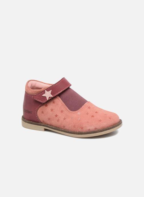 Zapatos con velcro Kickers Moly Rosa vista de detalle / par