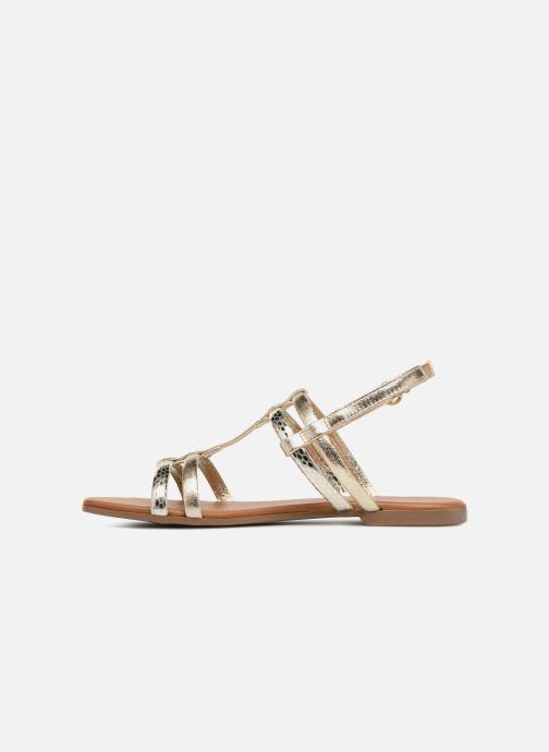 Sandales et nu-pieds Georgia Rose Mollie Or et bronze vue face