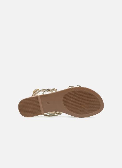 Sandales et nu-pieds Georgia Rose Mollie Or et bronze vue haut
