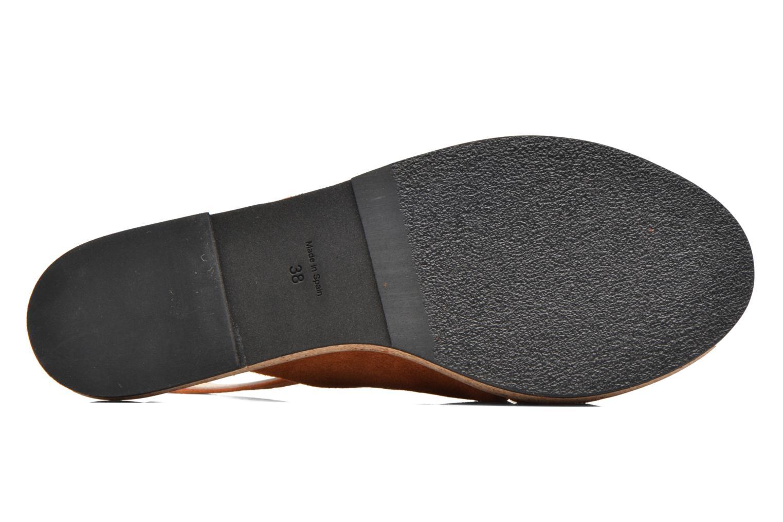 Sandales et nu-pieds Anaki Mismi Marron vue haut