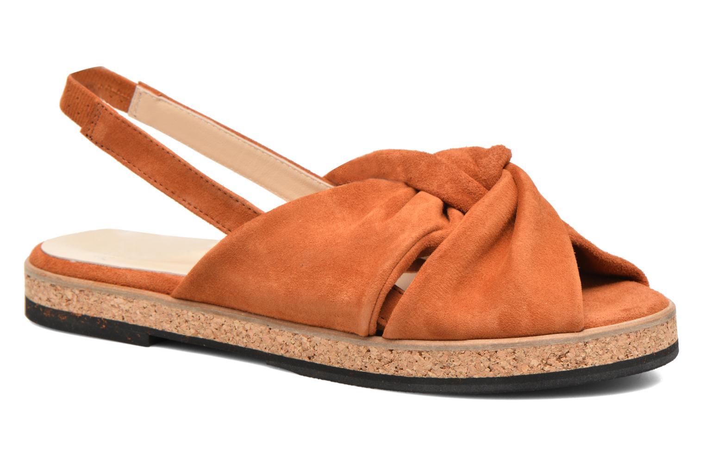 Sandales et nu-pieds Anaki Mismi Marron vue détail/paire