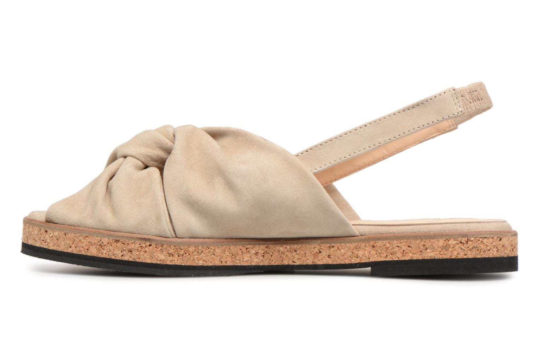 Sandales et nu-pieds Anaki Mismi Beige vue face