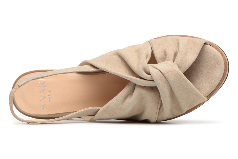 Sandales et nu-pieds Anaki Mismi Beige vue gauche