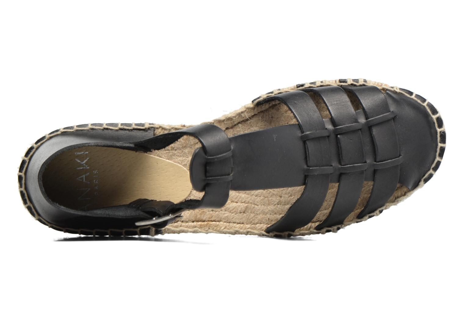 Sandals Anaki Jeri Black view from the left