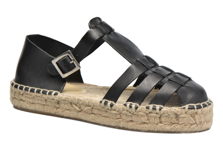 Sandals Anaki Jeri Black detailed view/ Pair view