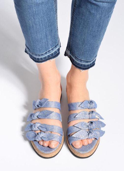 Sandales et nu-pieds Anaki Cali Bleu vue bas / vue portée sac