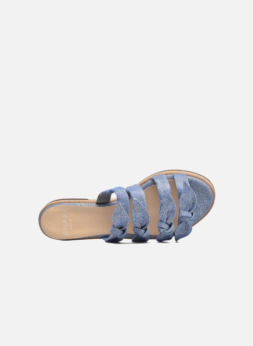 Sandales et nu-pieds Anaki Cali Bleu vue gauche