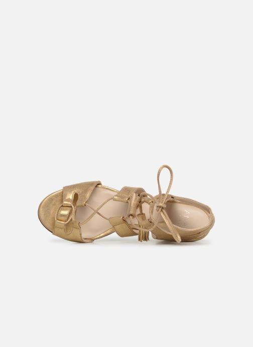 Sandales et nu-pieds Anaki Carilo Or et bronze vue gauche