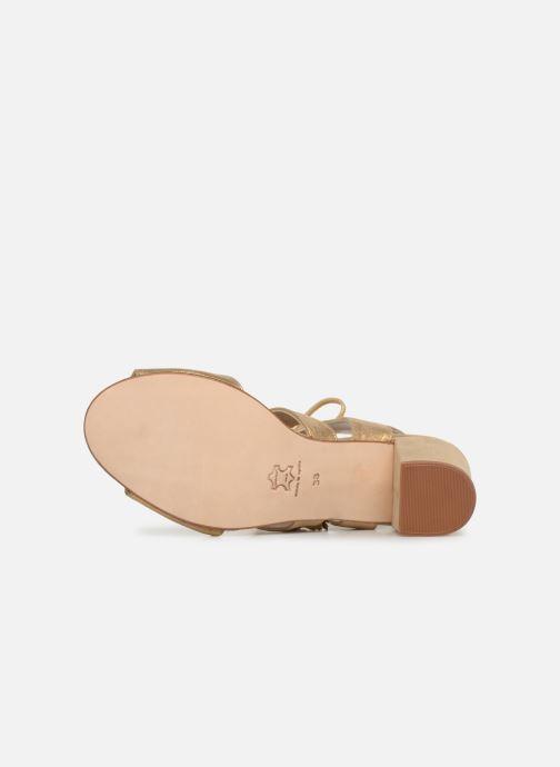 Sandales et nu-pieds Anaki Carilo Or et bronze vue haut