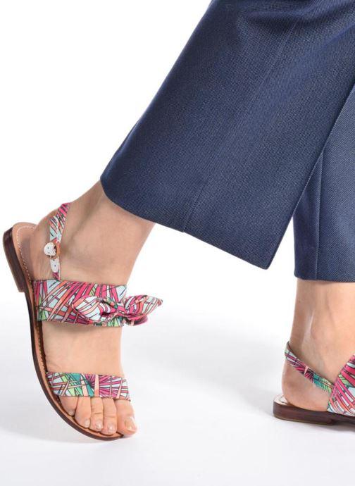 Sandales et nu-pieds Mellow Yellow Badona Bleu vue bas / vue portée sac