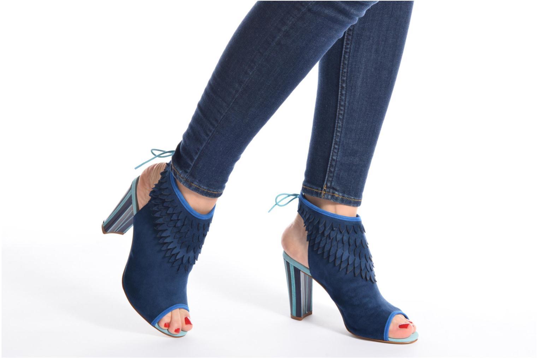Sandales et nu-pieds Mellow Yellow Bravo Bleu vue bas / vue portée sac