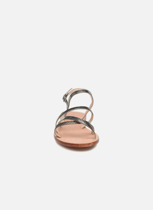 Sandales et nu-pieds Mellow Yellow Baloma Noir vue portées chaussures