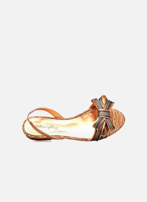 Sandales et nu-pieds Mellow Yellow Belcanto Orange vue gauche