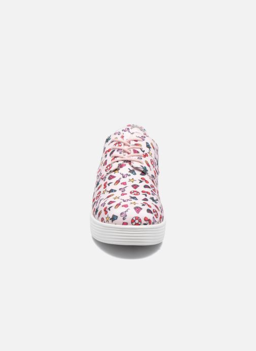 Baskets Mellow Yellow Biplaya Rose vue portées chaussures