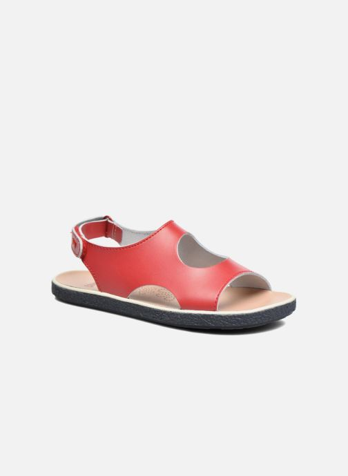 Sandals Camper Miko 2 Red detailed view/ Pair view