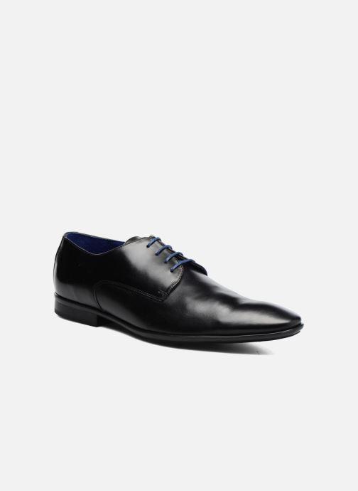 Snøresko Azzaro Aflint Sort detaljeret billede af skoene