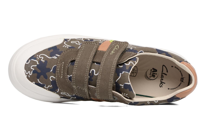 Sneakers Clarks Comic Zone Jnr Groen links