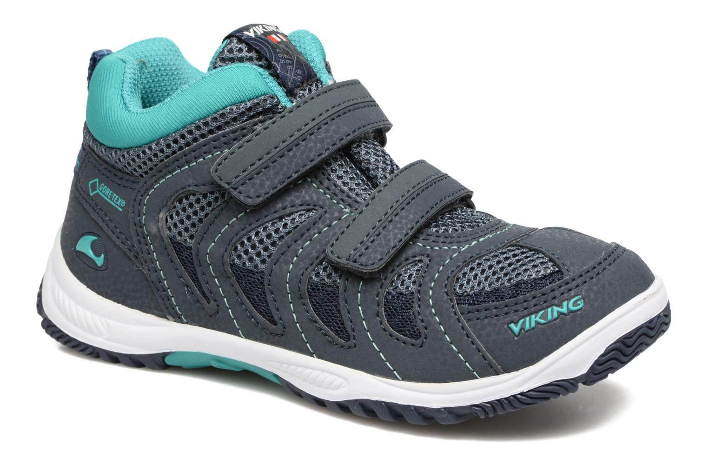 Chaussures de sport Viking Cascade 2 mid GTX Bleu vue détail/paire