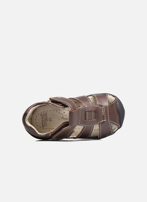 Sandales et nu-pieds Pediped Sydney1 Marron vue gauche