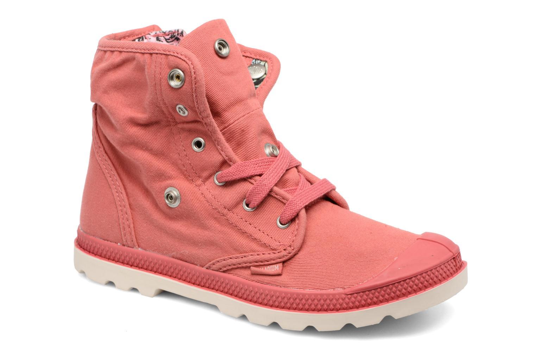 Bottines et boots Palladium Baggy Lo Lp K Rose vue 3/4