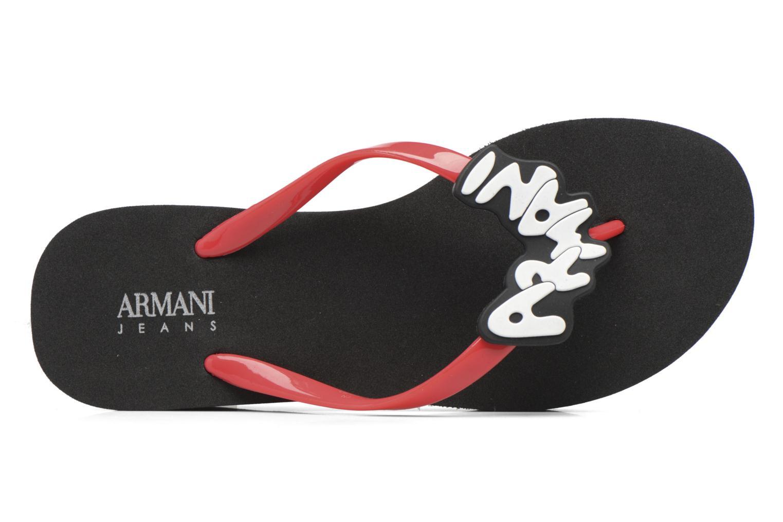 Tongs Armani Jeans Tamara Noir vue gauche