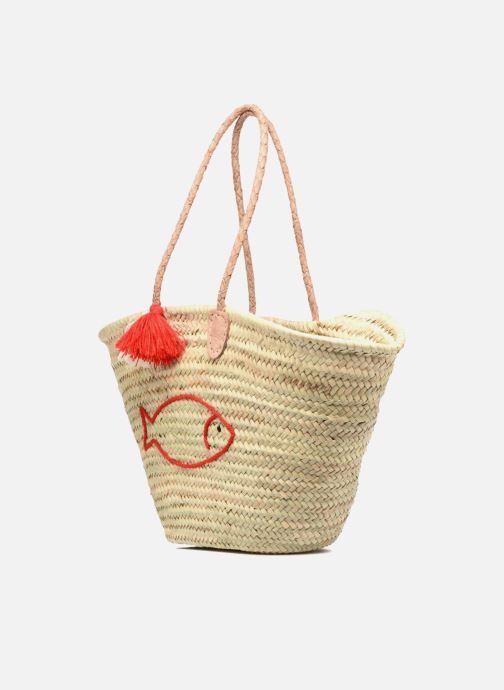 Handbags Etincelles Panier artisanal Poisson Rouge Red model view