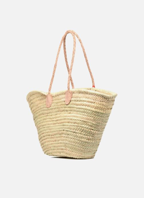 Handbags Etincelles Panier artisanal Poisson Rouge Red view from the right