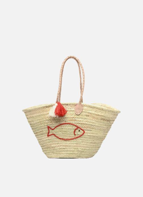 Handbags Etincelles Panier artisanal Poisson Rouge Red detailed view/ Pair view
