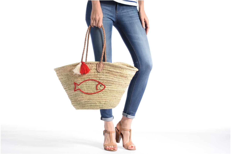 Handtassen Etincelles Panier artisanal Poisson Rouge Rood boven
