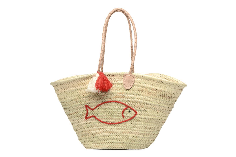 Handtassen Etincelles Panier artisanal Poisson Rouge Rood detail