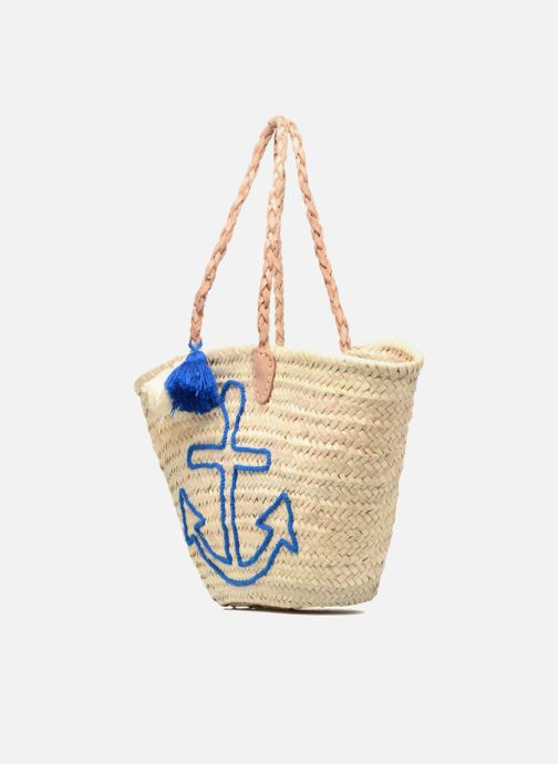 Handbags Etincelles Panier artisanal Ancre Bleu Blue model view
