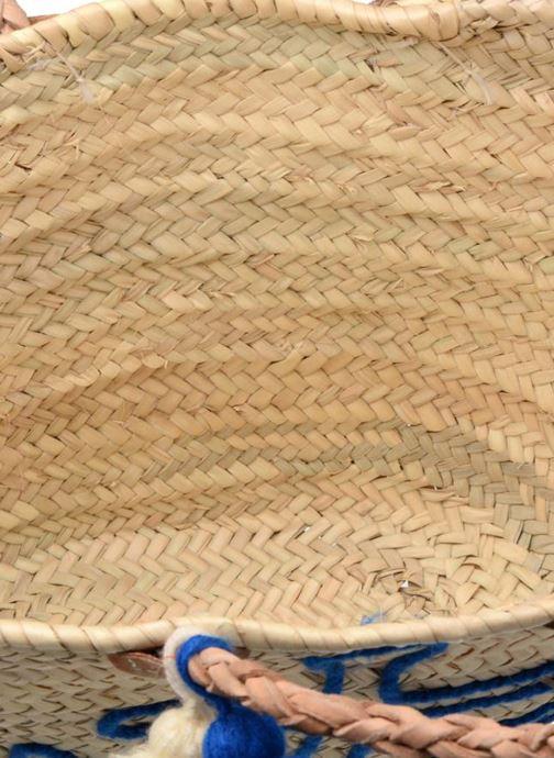 Sacs à main Etincelles Panier artisanal Ancre Bleu Bleu vue derrière