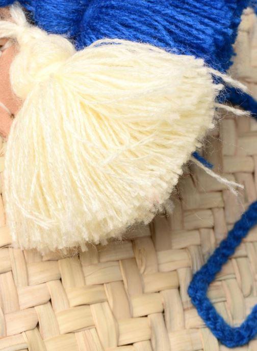 Sacs à main Etincelles Panier artisanal Ancre Bleu Bleu vue gauche