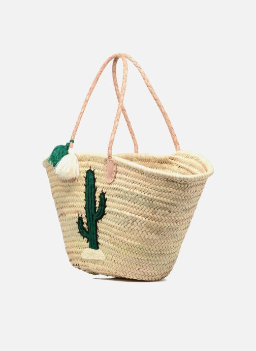 Sacs à main Etincelles Panier artisanal Cactus Vert Vert vue portées chaussures