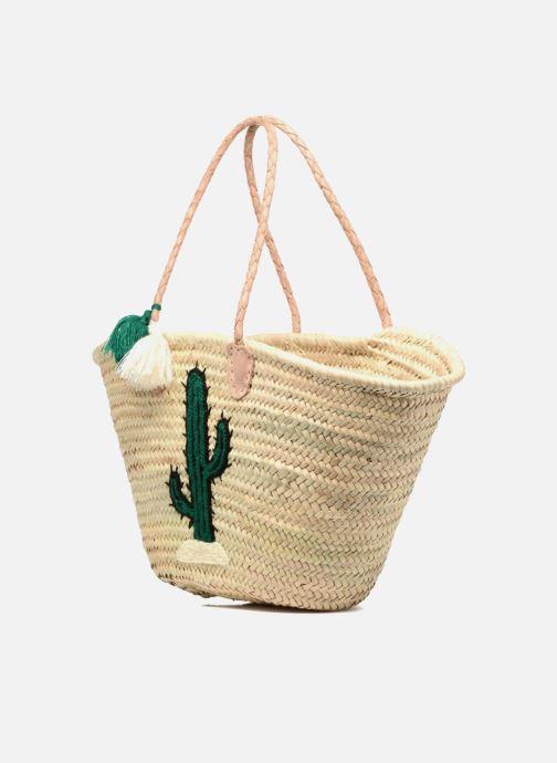 Borse Etincelles Panier artisanal Cactus Vert Verde modello indossato
