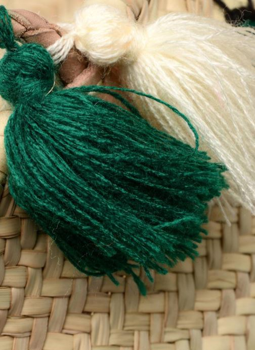 Borse Etincelles Panier artisanal Cactus Vert Verde immagine posteriore