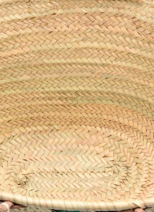 Sacs à main Etincelles Panier artisanal Cactus Vert Vert vue gauche