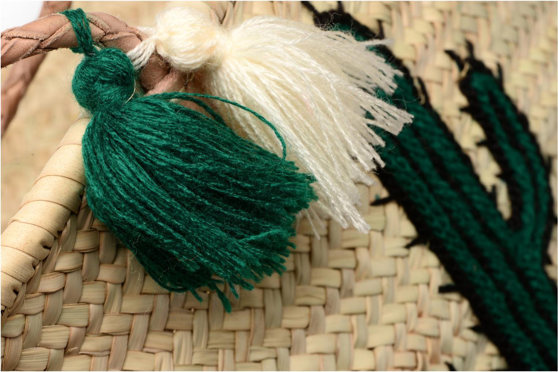Panier vert Cactus Dessin Etincelles artisanal Vert UWqnx4d